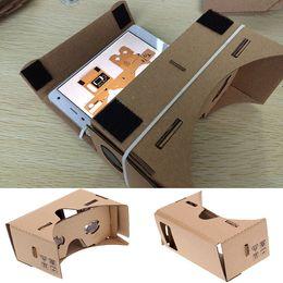 Oculos do google on-line-Google papelão 3d óculos diy telefone móvel realidade virtual óculos 3d cartão não-oficial google papelão vr toolkit óculos 3d wx-g10