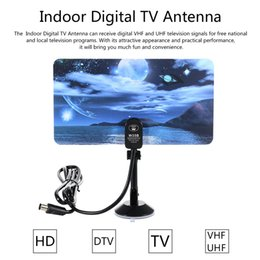 Wholesale Hd Vhf Uhf Antenna - w16PH08 Indoor Digital TV Antenna 35dBi High Gain Full HD 1080p VHF   UHF DVB-T-Aerial IEC Connector for DTV   TV