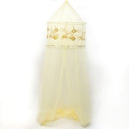 Wholesale Wholesale Door Beads - 70*270*1100Cm Mosquito Net Bed Nets Sequins Hanging Beads Mosquito Curtain Round Polyester Mosquitoes Net Bed Netting Insect Protection
