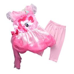 Wholesale Short Leggings Children - 2016 Time-limited Real 2-9 Gril Clothes Set Dress Leggings Summer Children My Little for Grils Sets Short Sleeve Kids Suit Clothing