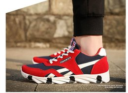 Wholesale Ventilated Running Shoes - Spring and autumn fashion men's shoes. Casual shoes. Fashion canvas shoes. Ventilated shoes. Running shoes. Men's Shoes. Gym shoes.