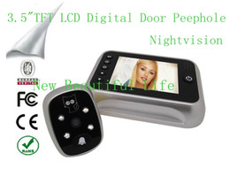 "Wholesale Door Peephole Wide Angle Camera - 3.5"" TFT LCD Color Screen Door Bell Viewer Digital Peephole Home Security Camera Take Photo Video Record Wide Angle Night Vision"