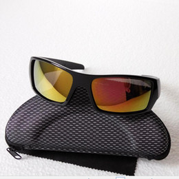 Wholesale Coloured Bicycle - summer newest style sunglasses 5 colors Men's sunglasses Bicycle Glass NICE sports sunglasses Dazzle colour glasses with cases