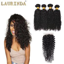 Wholesale Wholesale Virgin Hair Companies - Brazilian Curly Wave With Closure Virgin Brazillian Hair 3 Bundles With Closure 7a Hair Company On Sale