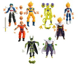 Wholesale Red Dolls - New 8Pcs lot 17cm PVC Dragon Ball Z Joint Movable Vegeta Piccolo Son Gohan Goku Trunks freeza doll Action Figure chidren Toy