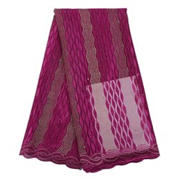 Wholesale organza lace fabric wholesale - French Lace Fabrics 2018 Hot sale Cheap Organza Nigerian Pink net Laces Fabric High Quality African Tulle Lace Fabric For Women