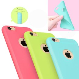 Wholesale Iphone 5s Silicon Cases - Case For iPhone 6 6S 6 6S Plus 5 5S SE Candy Colors Soft TPU Silicon Phone Cases For iPhone 6 Coque With Logo Window Accessories