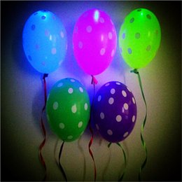 Wholesale Sky Lanterns Led Lights - 2016 Top Fashion 2017 Hot Sale 12 Inch Lighted Up Balloons Multicolors Flash Led Latex Balloon Birthday Party Sky Lantern Inflatable Air
