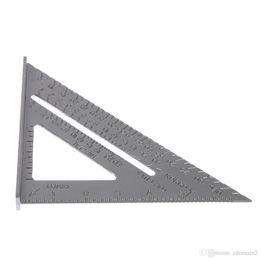 "Wholesale Aluminum Tiles - Aluminum Alloy Speed Square 7"" Combination Carpenter's Protractor Miter Framing Measuring Tools"