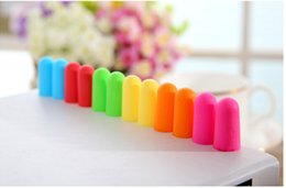 Wholesale Tapers Plugs Free Shipping - Bag pack Soft Orange Foam Ear Plugs Tapered Travel Sleep Noise Prevention Earplugs Noise Reduction For Travel Sleeping DHL free shipping