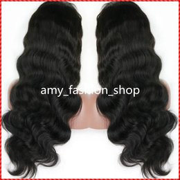 Wholesale Brazilian Beautiful Women - Brazilian full lace human hair wigs or Full Head Lace Front Wig Natural body wave wigs for beautiful women