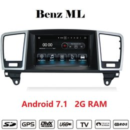 Wholesale 2g Mp4 Player - Android 7.1 2G RAM Car DVD Player navigation car stereo For Mercedes Benz ML 2012 2013 support carplay Wifi GPS BT Radio Mirrolink
