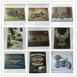 Wholesale Motorcycle Decorations - Wholesale Motorcycle Harley Cycles Vintage tin sign home Bar Pub Hotel Restaurant Coffee Shop home Decorative Retro Metal Poster