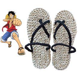 Wholesale People Monkeys - Hot Monkey D Luffy Sandals One Piece Cosplay Straw Zori Waraji Customize For Halloween Cosplay