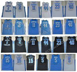 Wholesale Berry Men - 2017 North Carolina Tar Heels College Jersey 15 Vince Carter 11 Brice Johnson 5 Marcus Paige 2 Joel Berry II Stitched Jerseys