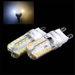 Wholesale G9 Energy Saving Bulbs - selling G9 2835 48leds LED Cool White Light LED Corn Crystal Light Bulbs 360 Degrees Energy Saving Capsule Spotlight Lamps
