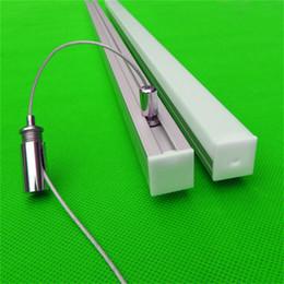 morsetto e27 Sconti Il tipo pendente libero di trasporto ha condotto il profilo di alluminio per la striscia principale, copertura latteo / trasparente per il PWB di 17mm con i montaggi CC-2020B