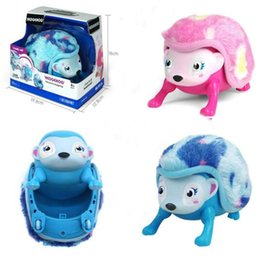 Wholesale Toys For Baby Rolls - Interactive Pet Rolling Hedgehog with Multi-modes Walk Roll Headstand Curl up Giggle Baby Toys for Kids Gifts D959