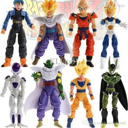 Wholesale Dragon Ball Z Goku Figure - Lot 8pcs  set, dragon ball z action figures Dragonball Z Goku DBZ Anime Vegeta Kid Toy