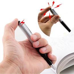 2019 причудливые ручки Горячие продажи необычные шариковые ручки Шокирующие Электрические Игрушки Подарок Шутка Шутка Шутка Веселье шутки игрушки шутка игрушки IA878 дешево причудливые ручки
