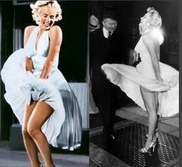 Wholesale Formal Tea Length Dresses Halter - Light yellow Inspired Marilyn Monroe Prom Dresses Halter A-line Ruched Bodice Pleat Homecoming Formal Evening Dress Gowns Vestidos De Festa