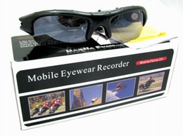 Wholesale Dvr Webcam - New Novelty Mini Sunglasses Camera Video Recorder Sport Camcorder DVR Sport camera PC webcam Digital USB disk