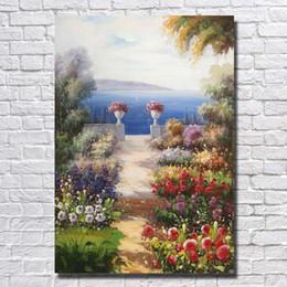 2019 billige kunstfarbe Beste Landschaft Kunst Malerei Moderne Wand Leinwand für Wohnzimmer Nizza Home Decor Günstige Ölgemälde rabatt billige kunstfarbe