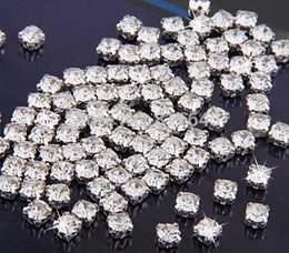 Wholesale crystal ss18 - SS12 SS14 SS16 SS18 SS20 SS25 SS28 SS35 SS38 SS50 Silver Plated Loose Crystal Sew on Rhinestone,Metal Findings for Jewelry