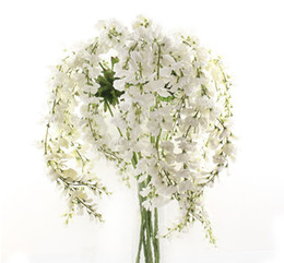 Wholesale Fashion Home Parties - New Fashion Home Party Wedding Garden Floral Centerpieces Decoration Romantic Artificial Wisteria Vines Silk Wisteria Garlands Flower