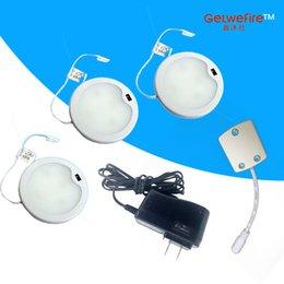 Инфракрасный свет 12v онлайн-3pcs / lots встроенный инфракрасный датчик DC 12v 3W с 33pc 3014 светодиодами, светодиодная шайба / свет шкафа,светодиодный прожектор+1connector + 1 Адаптер