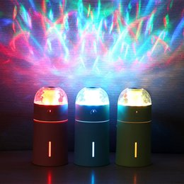 Wholesale Mini Ultrasonic Humidifier Wholesale - Creative Colorful LED Projection Light Air Humidifier Mini Portable USB Car Charger Ultrasonic Essential Oil Aroma Diffuser