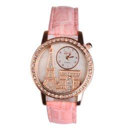 Wholesale Rhinstone Watches - Fashion Women Wristwatch Quartz Watch Rhinstone Luxury Leather Relogio Feminino Saat Gifts White Diamond Jewelry Reloj Mujer