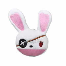 "Wholesale Live Dolls - New Date A Live Yoshino Rabbit Puppet 4"" Mini Pendant Plush Toy Keychain Doll"