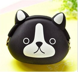 Wholesale Small Silicone Purses - Animal Silicone Small Bags Mini Coin Bags Mini Coin Purse Change Wallet Purse Key Wallet Coin Wallet Children Kids Gifts Free DHL ZD133A