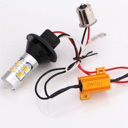Wholesale White Switchback - light bulb watt Car Styling! 1Set 1156 P21W BA15S 5730 20SMD Amber White Switchback LED Bulbs SMD 1073 S25 DRL Turn Signal Light