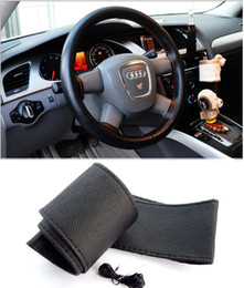 Wholesale New Leather Steering Wheel Cover - 150pcs 2016 Hot Sale New Universal Anti-slip Breathable Microfiber Leather DIY Car Steering Wheel Cover Case With Needles and Thread ZB0299