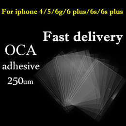 Wholesale Optical Clear Film - Original LCD OCA Sticker Film for iphone 4 4s 5 5s 5c 6 6s 6 plus Optical Clear Adhesive Glue Sticker Mitsubishi 250um