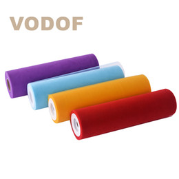 Wholesale Tulle Rolls Free Shipping - FREE SHIPPING 12'' 50yards soft tutu tulle roll fabric skirt Wedding Decoration Gift Bow Floral Wrapping Mesh Ribbon