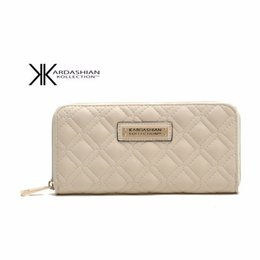 Wholesale Kardashian Kollection Sale - Wholesale Women Wallet Girl Handbags Purse Long Design PU Leather Kardashian Kollection Ladies Clutch Coin Purse 2016 Hot Sale Free Shipping