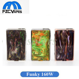 Wholesale Connector Pins - Authentic Aleader Funky 160W Box Mod Resin Vape Mod 510 Thread Connector Pin 40A Max Output 100% Original