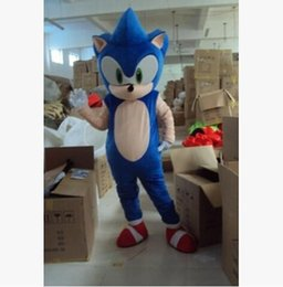 Wholesale Sonic Hedgehog Costume Adults - Manufacturer direct selling high quality adult size Sonic blue hedgehog mascot costume party outfit