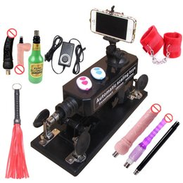 Wholesale Dildo Whips - Automatic Sex Machine Gun Set for Men  Women LOVE Machine with Masturbation Cup, Big Dildo,Couple Game Sex Handcuffs and Leather Whip etc