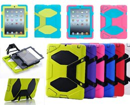 Wholesale Ipad Case Wholesale Dhl - For SAMSUNG Galaxy Ipad new 2017 mini 2 3 4 5 6 air Pro Military robot Extreme Heavy Duty Shockproof CASE W  Kickstand Stand Cover DHL free