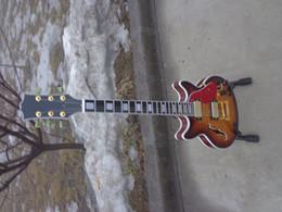 Wholesale Musical Quilt - best china guitar Custom CS JAZZ Quilt Top Electric Guitar Vintage Sunburst OEM Musical Instruments