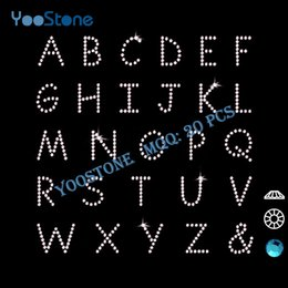 Wholesale Crystal Letters Wholesale China - Crystal 26 Capital Letters Rhinestone, China Low Price Products Rhinestone Iron On Letters 20 Pcs Lot Free Shipping
