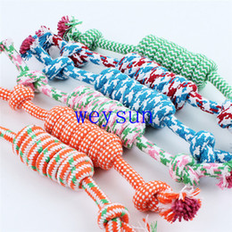 Wholesale Dog Rope Cotton - New Pet cotton rope dog plush teeth toys pet molar and clean teeth toy
