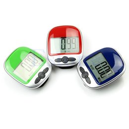 Wholesale Digital Counter Pedometer - Wholesale- 2017 Hot LCD Counter Pocket Clip Digital Pedometer Step Run Distance Calorie Walking MAR20_15