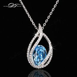Wholesale Pave Link Chain Wholesale - Unique Chic CZ Diamond Pave Big Imitation Crystal Elegant Necklace & Pendants Wholesale Fashion Wedding Jewelry For Women DFN292
