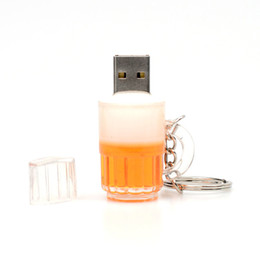 Wholesale Genuine Usb Stick - New Cartoon Beer Bottle USB 2.0 Memory Flash Stick Pen Drive Genuine 8GB Full Real Capacity 100% New High Speed