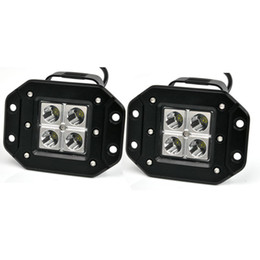Wholesale Square Led Spot - 2 pieces High Quality 3 inch 4x3w 12v 24v DC Jeep Pickup offroad LED Pod Light